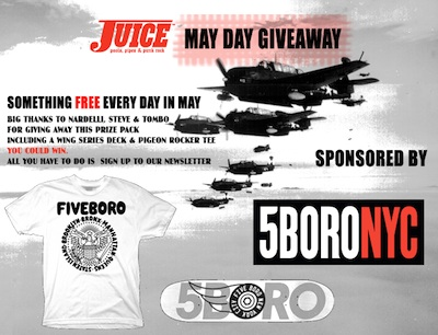 5Boro & Juice Magazine: May Day Giveaways (2012)