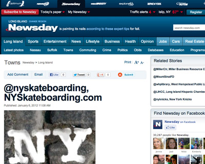 NYSB Twitter Featured in Newsday (2012)