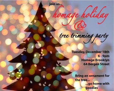 Tonight: Homage Holiday Tree Trimming Party (2012)