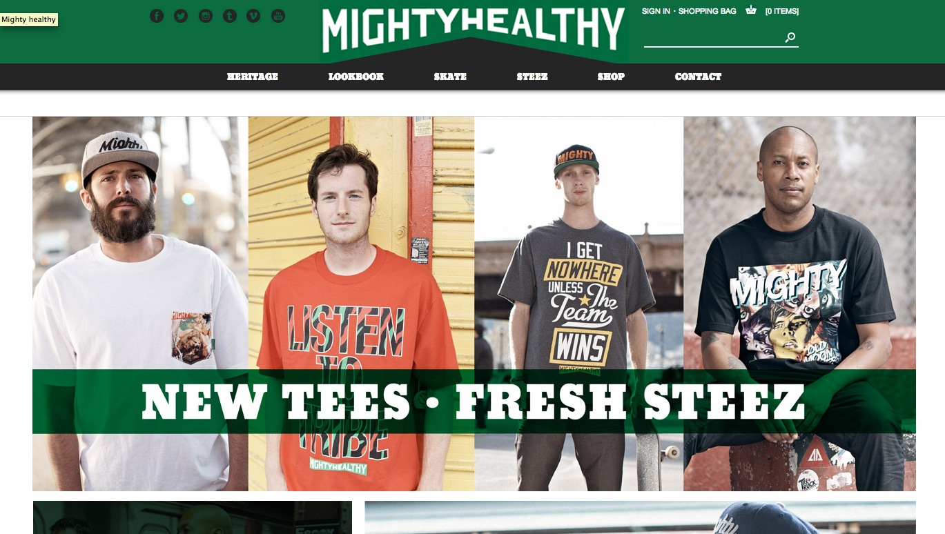 Mighty Healthy Launches New Site (2013)