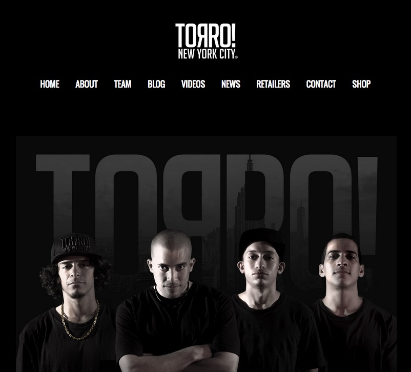 TORRO! Skateboards Launches New Site (2015)