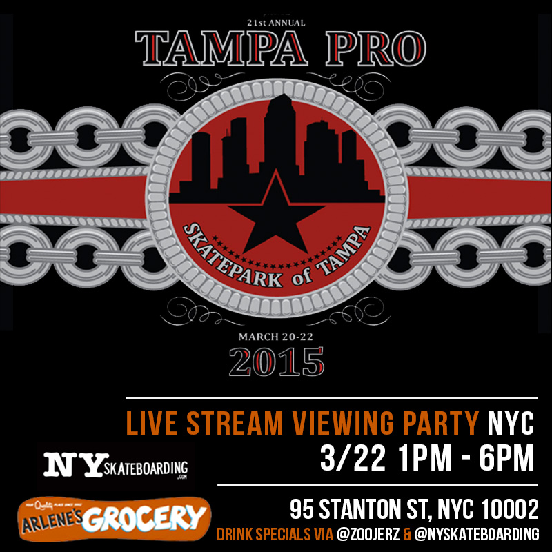 Today: Tampa Pro Finals Live Stream (2015)
