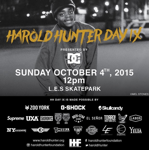 Today: Harold Hunter Day IX (2015)