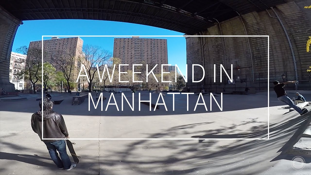 A Weekend in Manhattan via Sketch Skateboards (2015)