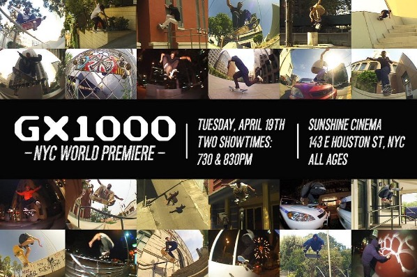 Tonight: The GX1000 NYC Video Premiere (2016)