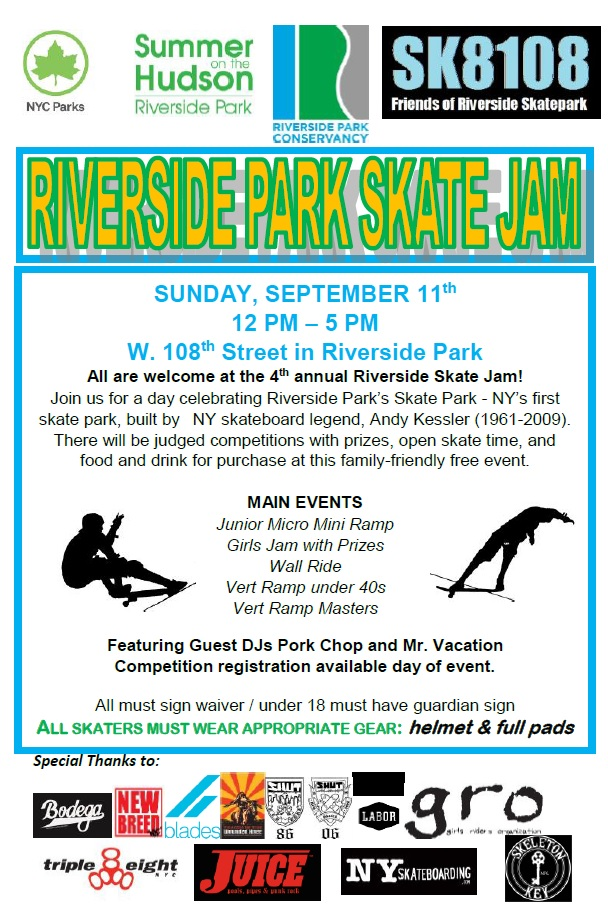 Today: 4th Annual Riverside Park Skate Jam (2016)