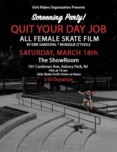 "[NJ] ""Quit Your Day Job"" Screening Party @ The Showroom 