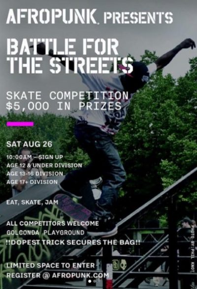 Afro Punk: Battle for the Streets Contest @ Galconda Playground | New York | United States