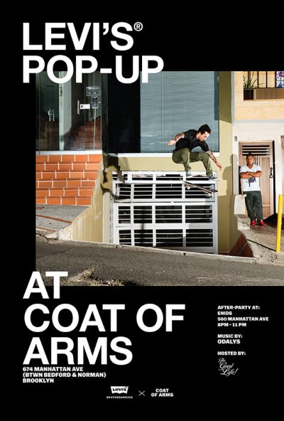 LEVI's Skateboarding Pop-Up @ Coat of Arms | New York | United States