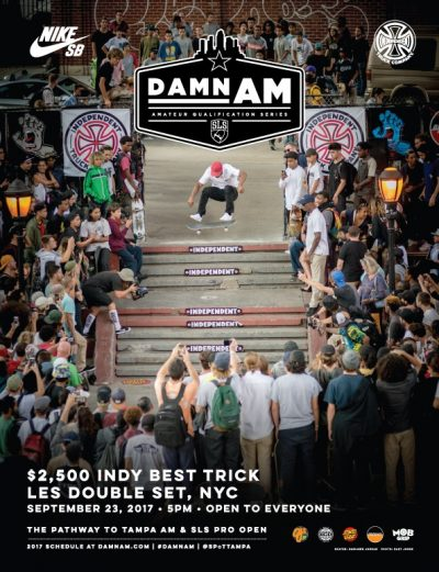 Damn AM x Indy Best Trick Contest @ Coleman LES Skatepark | New York | New York | United States