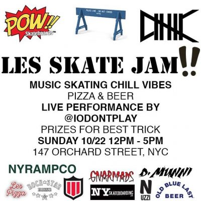 POW!! Sunday LES Skate Jams (weekly) @ @IODONTPLAY | New York | New York | United States