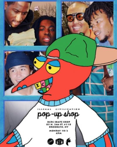 Illegal Civilization Pop-Up Shop @ KCDC Skateshop | New York | United States