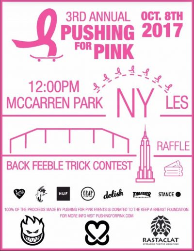 3rd Annual Pushing for Pink @ LES Skatepark | New York | New York | United States