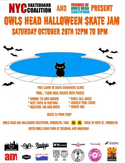 Owl's Head Halloween Skate Jam @ Owl's Head Skatepark | New York | United States