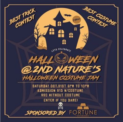 2nd Nature's Halloween Costume Jam @ 2nd Nature Skatepark | Peekskill | New York | United States