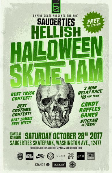 Saugerties Hellish Halloween Skate Jam @ Saugerties Skatepark | Saugerties | New York | United States