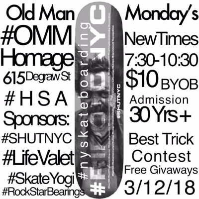 Old Man Mondays 30+ Weekly Session @ Homage Brooklyn | New York | United States