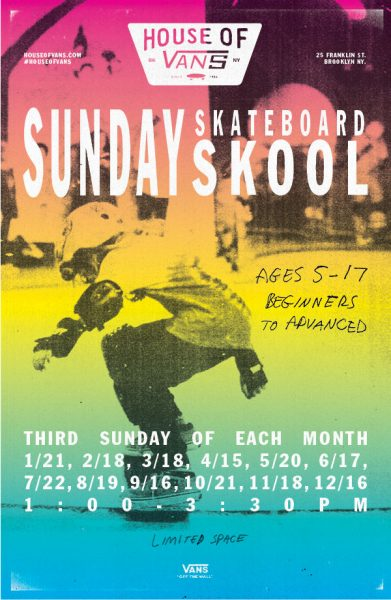 HOV Sunday Skate School (ages 5-17) @ House of Vans | New York | United States