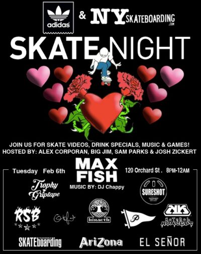 SkateNight NYC 2.6.2018 @ Max Fish | New York | New York | United States