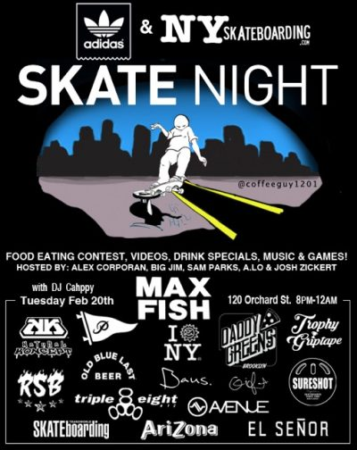 SkateNight NYC 2.20.2018 @ Max Fish | New York | New York | United States