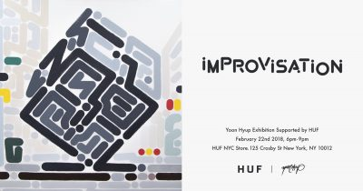 "HUF x Yoon Hyup Exhibition ""iMPROViSATiON"" @ HUF NYC 