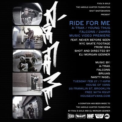 Fool's Gold x HHF x SHUT - Ride For Me @ House of Vans | New York | United States
