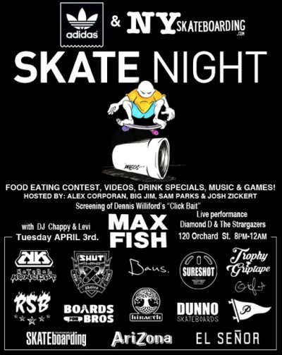 SkateNight NYC 4.3.2018 @ Max Fish | New York | New York | United States