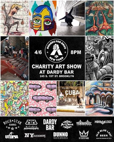 Boards For Bros - Charity Art Show @ Dardy Bar | New York | United States