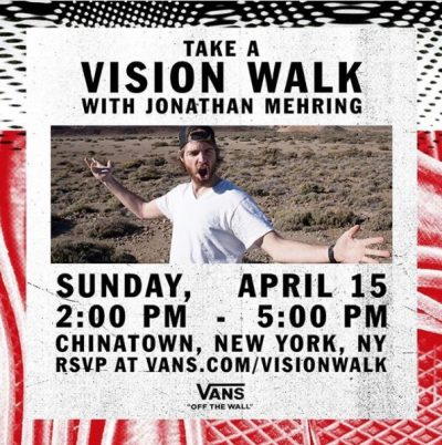 Take a Vision Walk with Jonathan Mehring @ Chinatown | New York | New York | United States
