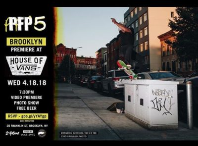 PFP5 Video Premiere (Brooklyn) @ House of Vans | New York | United States