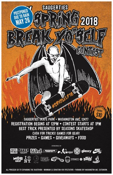 Spring Break Yo'Self Contest 2018 @ Saugerties Skate Park | Saugerties | New York | United States
