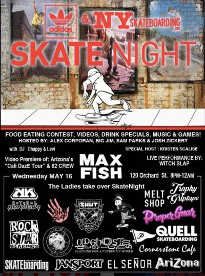 SkateNight NYC 5.16.2018 @ Max Fish | New York | New York | United States