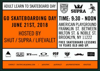 Adult Learn To Skateboard Day @ American Playground | New York | United States