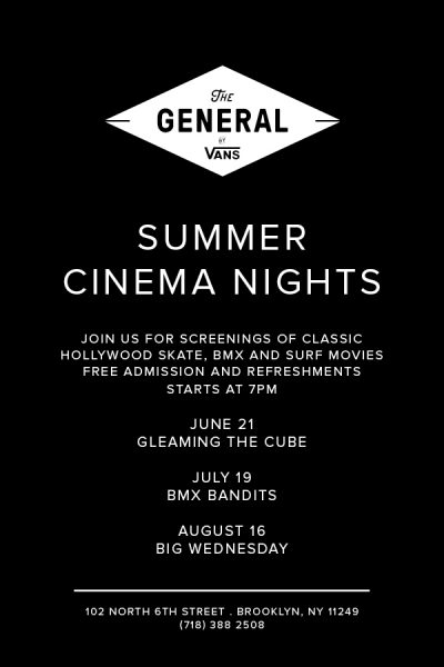 Gleaming The Cube Screening @ The General by Vans (Brooklyn) | New York | United States