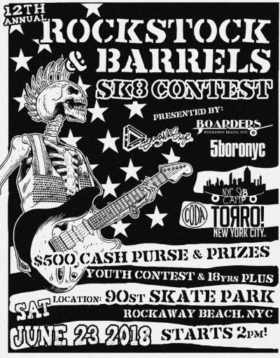 12th Annual Rockstock Barrels Sk8 Contest @ 90 St Skate Park | New York | United States