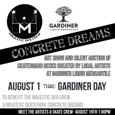 [Upstate] Concrete Dreams Art Show @ Gardner Liquid Mercantile | Gardiner | New York | United States