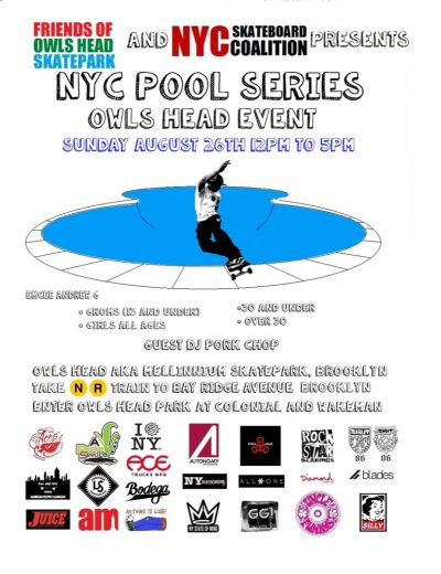 NYC Pool Series - Owls Head Event [New Date] @ Owls Head Skatepark | New York | United States