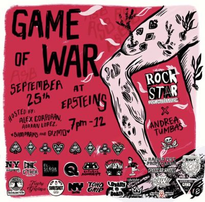 Rock Star Bearings - Game of WAR @ Epstein's | New York | New York | United States