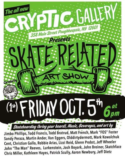 [Upstate] Skate Related Art Show by Mike Long @ Cryptic Gallery | Poughkeepsie | New York | United States