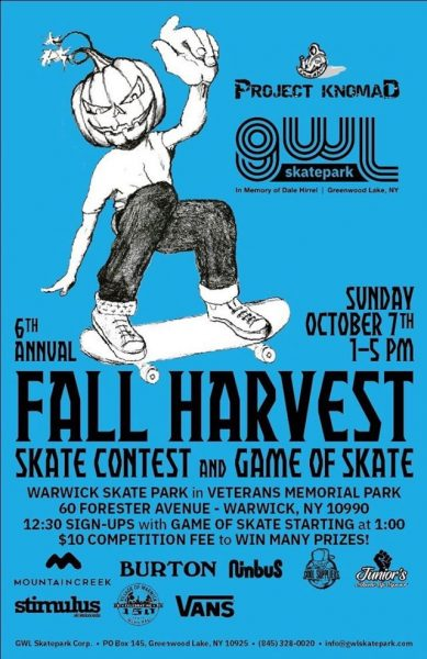 [Upstate] Fall Harvest Skate Contest & Game of S.K.A.T.E. @ Warwick Skatepark | Warwick | New York | United States