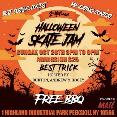 2nd Nature - Halloween Skate Jam @ 2nd Nature Skatepark | Peekskill | New York | United States