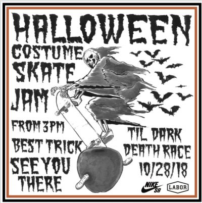 Halloween Costume Skate Jax x Best Trick Contest @ LES Coleman Skate Park | New York | New York | United States