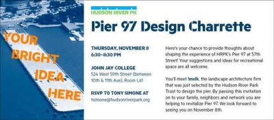 Pier97 Planning Meeting @ John Jay College - Room L61 | New York | New York | United States