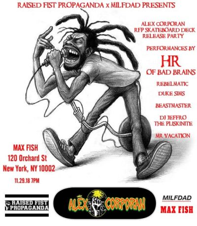 Alex Corporan x RFP Deck Release Party @ Max Fish | New York | New York | United States