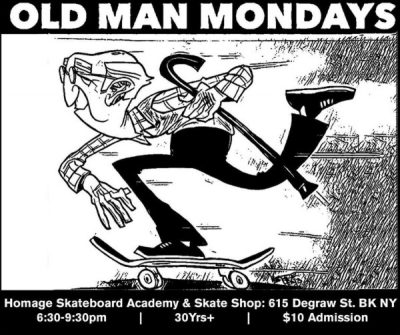[Bi-Weekly] Old Man Mondays 30+ Session @ Homage Skateboard Academy & Skate Shop | New York | United States