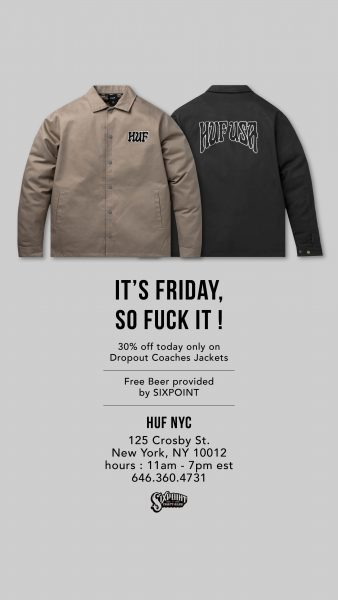 [Weekly] HUF NYC - F*** It Fridays @ HUF NYC | New York | New York | United States