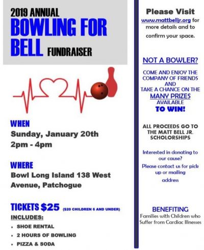 Annual Bowling for Bell Fundraiser 2019 @ Bowl Long Island | Patchogue | New York | United States