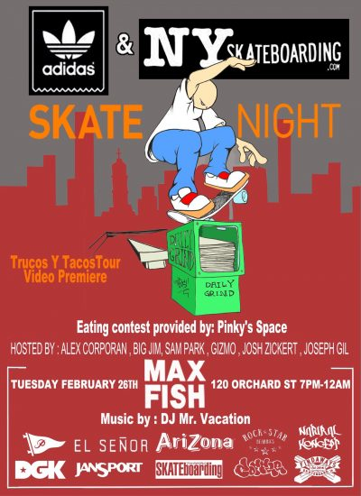 SkateNight NYC @ Max Fish | New York | New York | United States