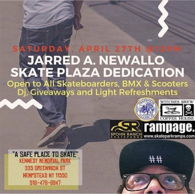 Jarred A. Newallo Skate Plaza Dedication @ Kennedy Memorial Park | Hempstead | New York | United States