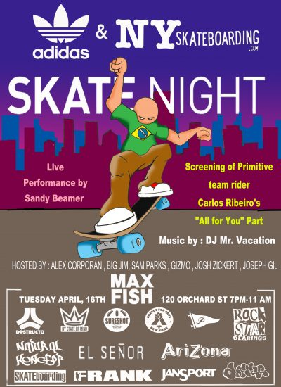 SkateNight NYC 4.16.2019 @ Max Fish | New York | New York | United States